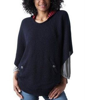 www.promod.comThis cape top is a wardrobe must-have for all aspiring fashionistas! Be one of the first to get the look! Featuring a hood with eyecatching stripes and 2 button pockets. With ribbed edges.