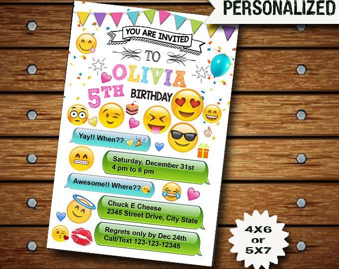 Emoji Invitación Emoji Cumpleaños Fiesta Emoji