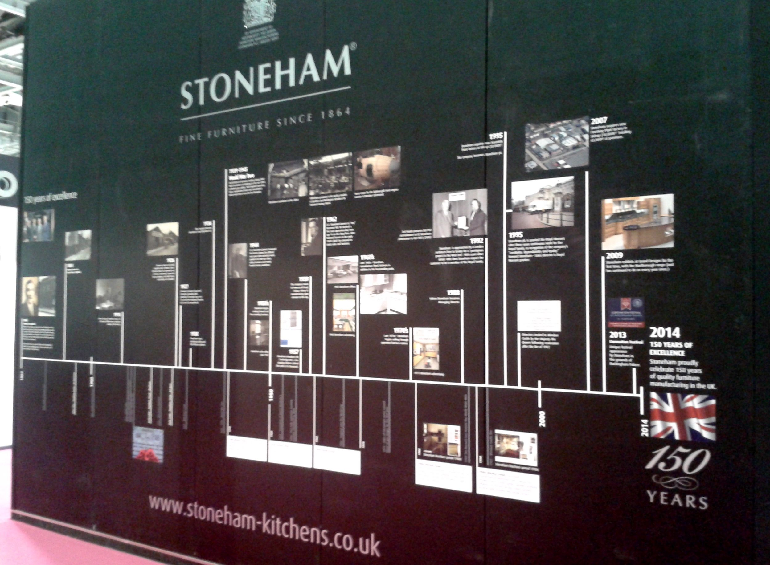 150 years of stoneham kitchens timeline at grand designs live 2014 kitchen design british on kitchen remodel timeline id=80167