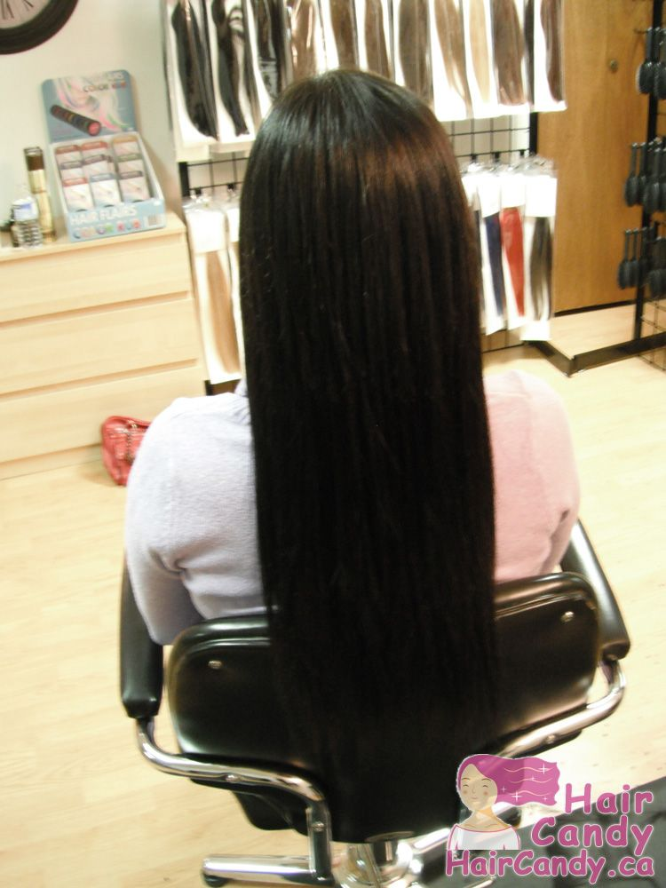 A Set Of Fusion Hair Extensions Done On One Of Customers In Edmonton