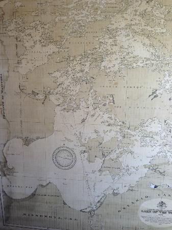 Map Of Kenora Canada.Old Map Of Lake Of The Woods The Boathouse 310 Matheson Street