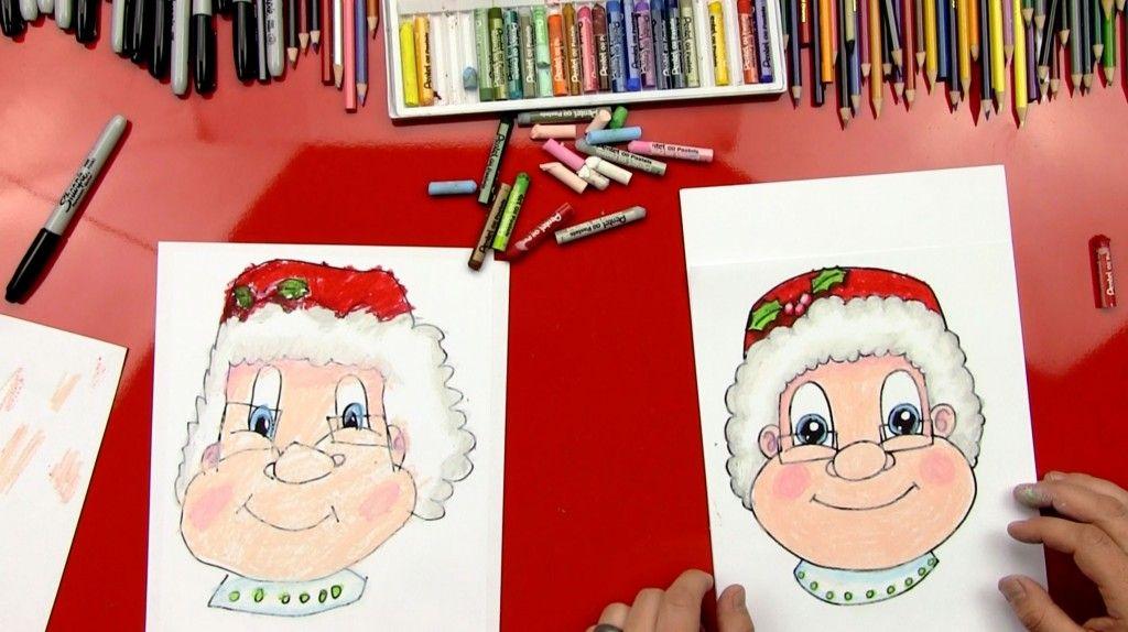How To Draw Mrs. Claus | Art for kids hub, Christmas art ...