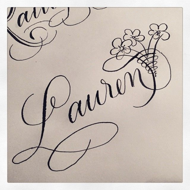 Rebecca Sinnen On Instagram Lauren Names Name Drawings Calligraphy Name Watercolor Typography