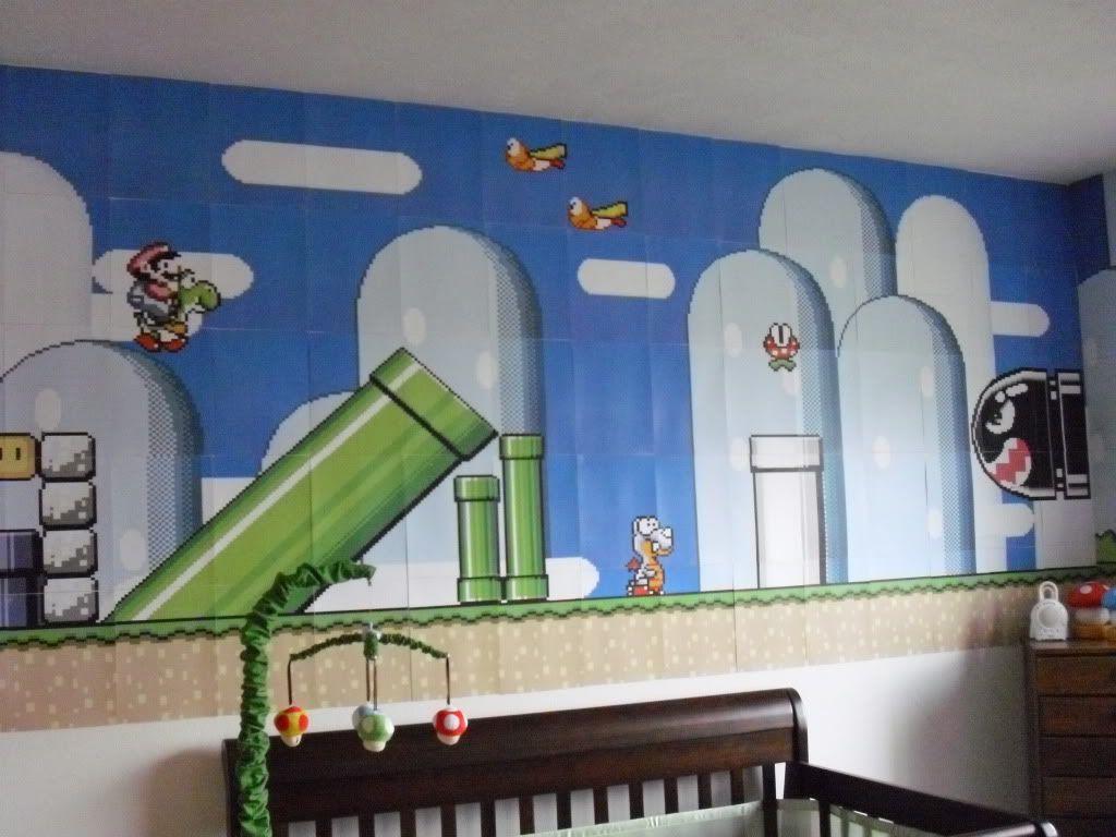 super mario wallpaper (sheet by sheet) Super Mario Room