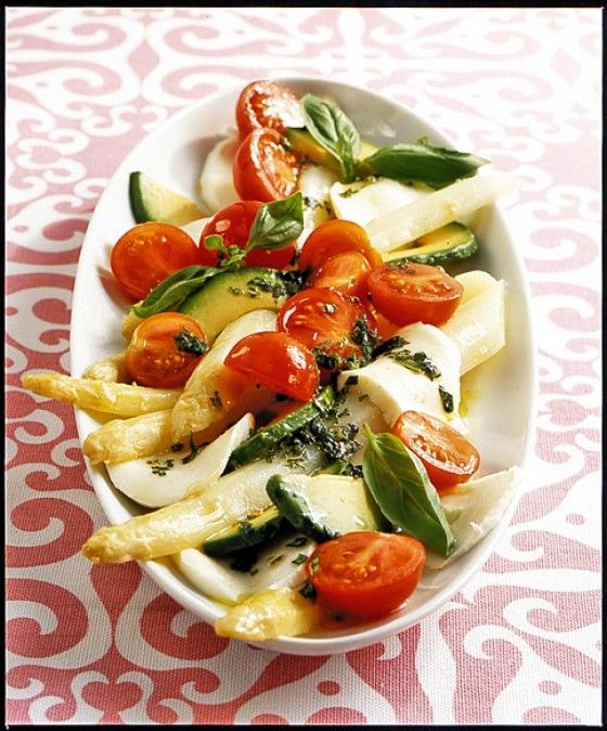 Italienischer Spargelsalat Rezept Spargelsalat, Italienisch - kochrezepte leichte küche