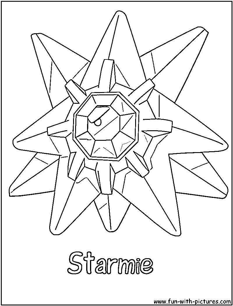 Starmie Coloring Page Pokemon Coloring Pages Coloring Pages Pokemon Coloring