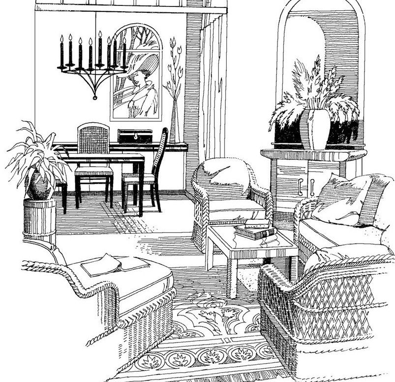 Living dining room sketch