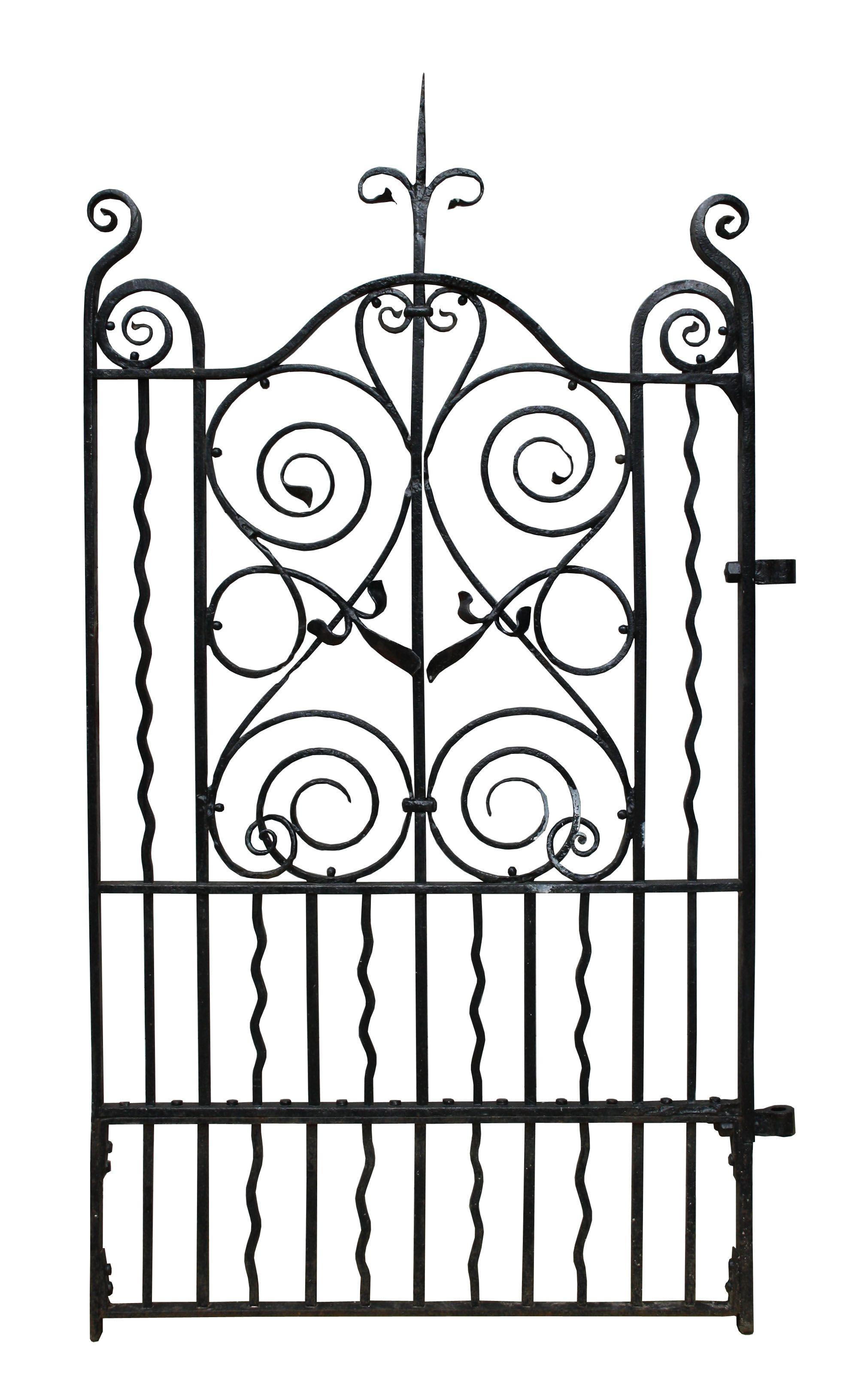 Victorian Wrought Iron Pedestrian Side Gate Uk Architectural Heritage Side Gates Vintage Garden Antique Bench