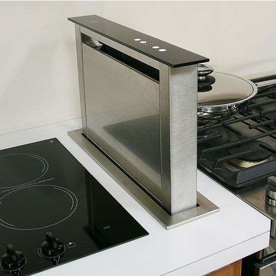 This Sirius Sudd3 20 Side Mounted Downdraft Ventilation Range Hood Quickly Whisks Away Smoke Steam And Cooking Odors Be In 2020 Range Hood Kitchen Hoods Range Hoods