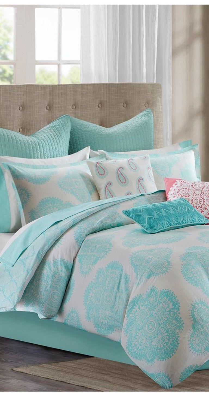 Bright & boho summer bedding update.   Comforter sets ...