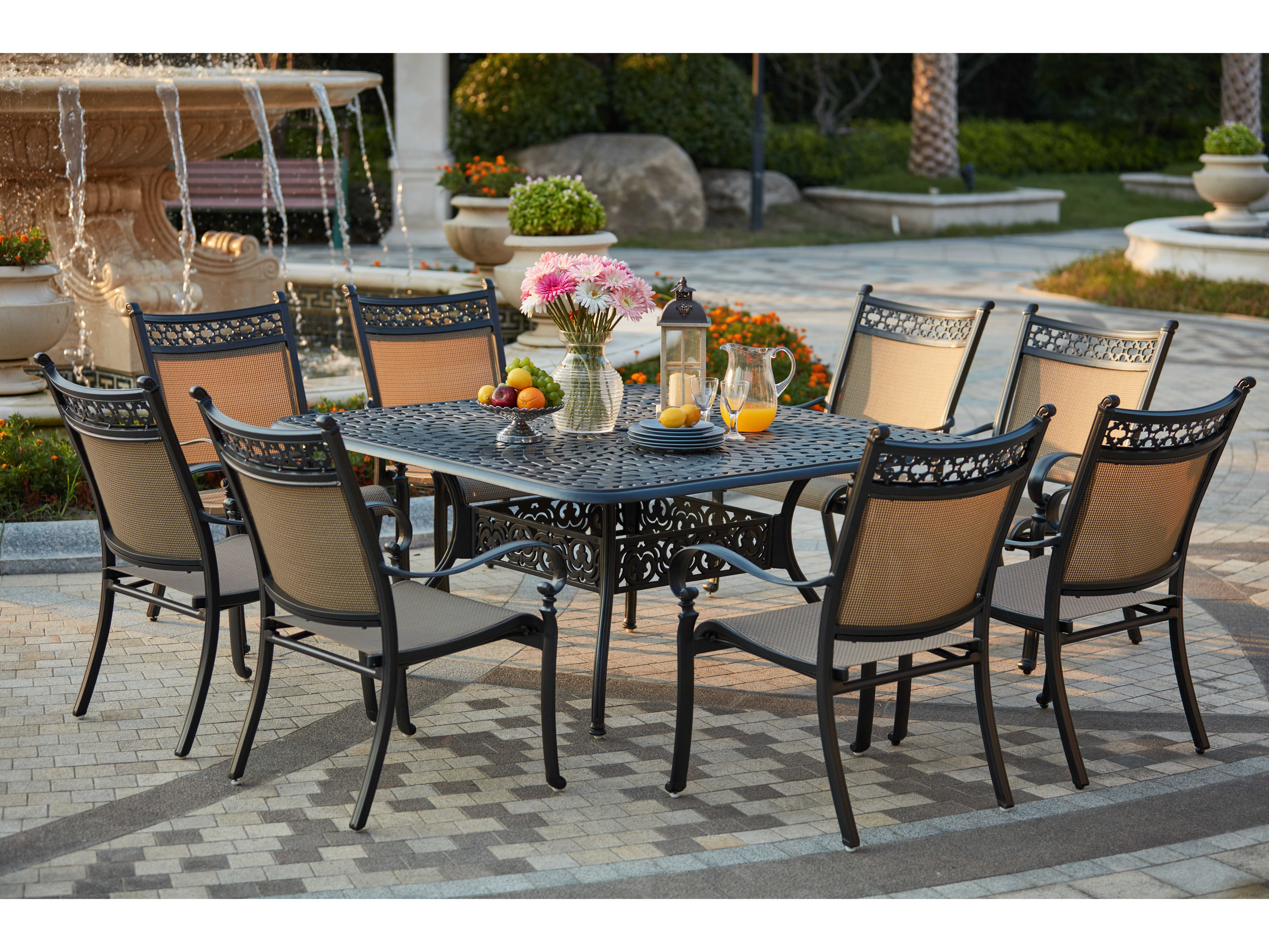 Darlee Outdoor Living Standard Mountain View Cast Aluminum 9 Piece