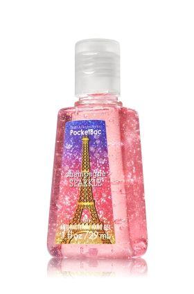 Champagne Sparkle Pocketbac Sanitizing Hand Gel Bath Body