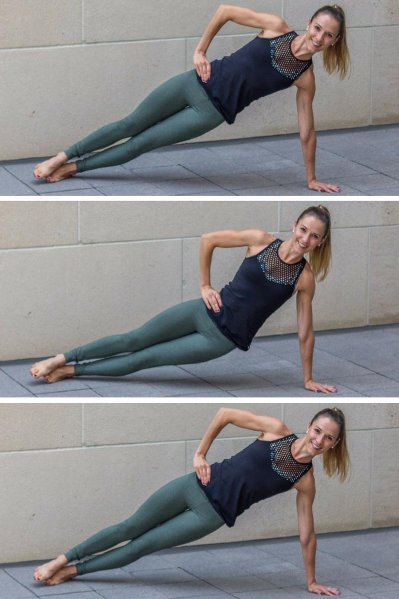No Bar Barre Workout | Barre workout, Side plank hip lifts ...