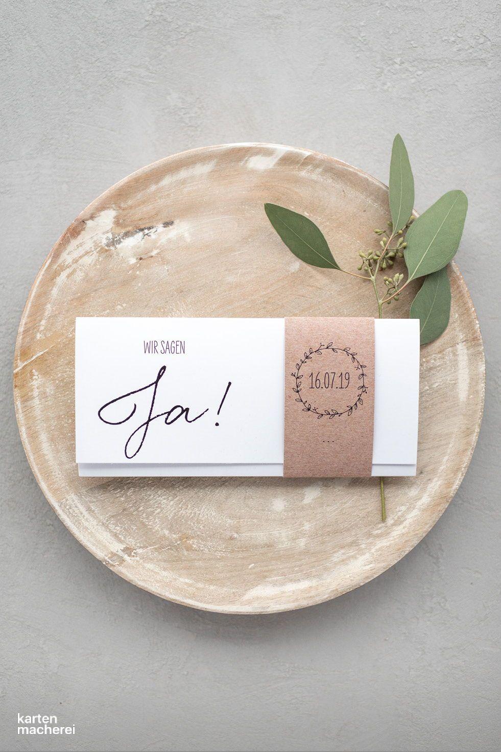 """Hochzeitseinladung """"Letter Pur"""""""