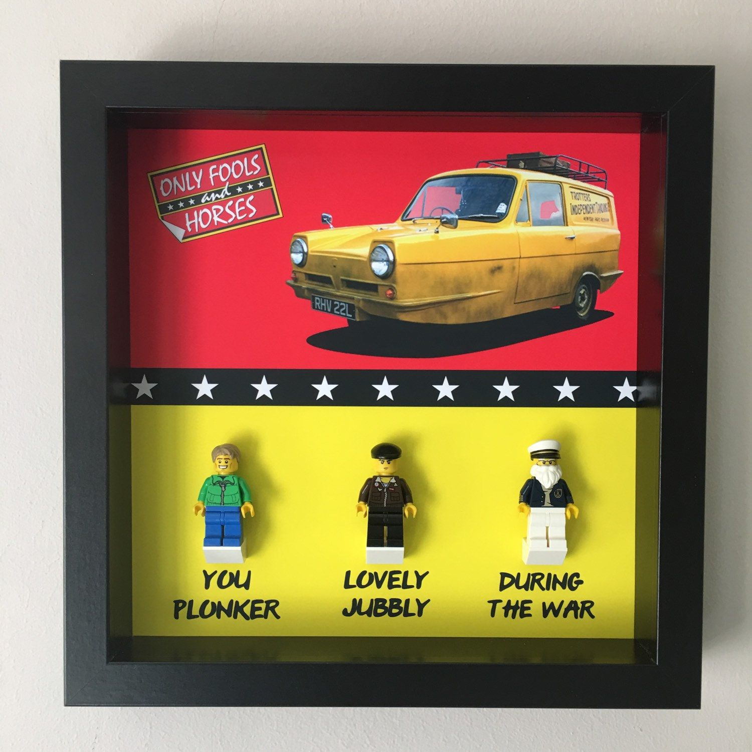 Only Fools And Horses Minifigure Frame Only Fools And Horses Fools And Horses Lego Frame