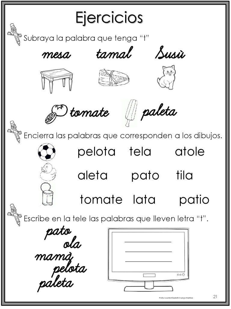 50 Ejercicios De Lecto Escritura Para Preescolar Y Primaria 010