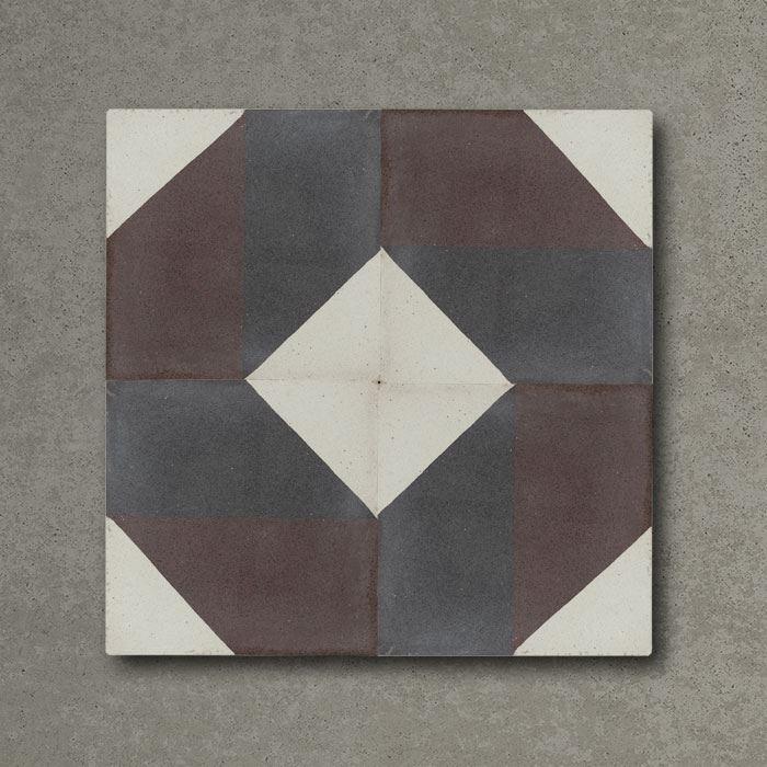 Tulum Burgundy Handmade Encaustic Cement Floor Tile   Otto Tiles & Design   Encaustic, Moroccan ...