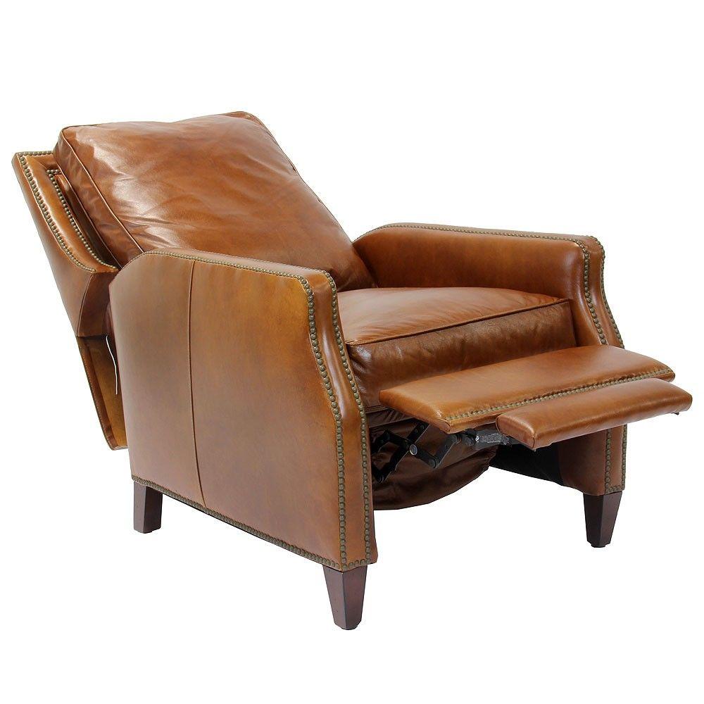 Henredon Leather Davis Recliner Recliners Living Room