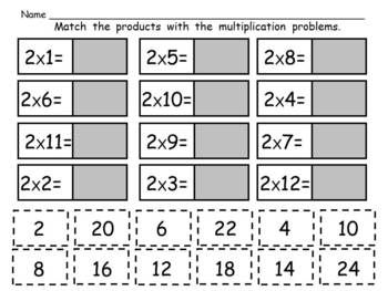 Free Cut And Paste Multiplication And Division Practice Sampler