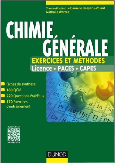 Telecharger Chimie Generale Exercices Et Methodes Tout Le Cours En Fiches Pdf Gratuitement Chemistry Science Books
