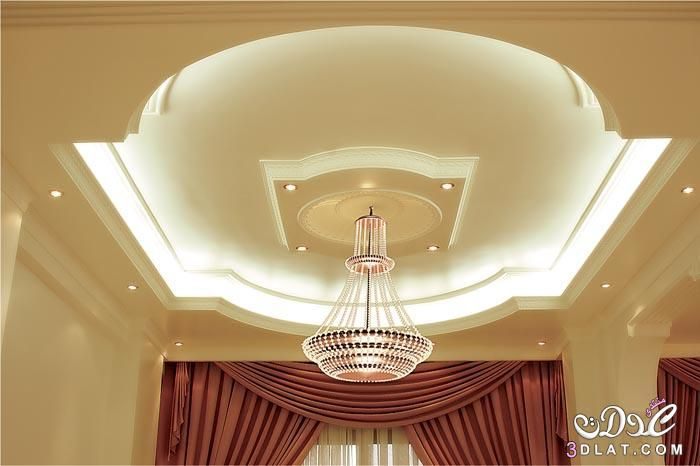 اجمل صور ديكور جبس 2015 ديكورات جبسيه للفيلات 2016 ديكورات جبسيه بالوان False Ceiling Design Ceiling Design Living Room False Ceiling