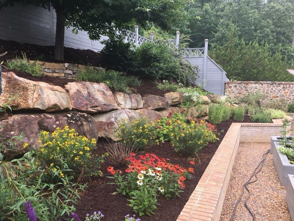 """Beautiful side yard """"secret garden"""" by Earth Brothers in"""