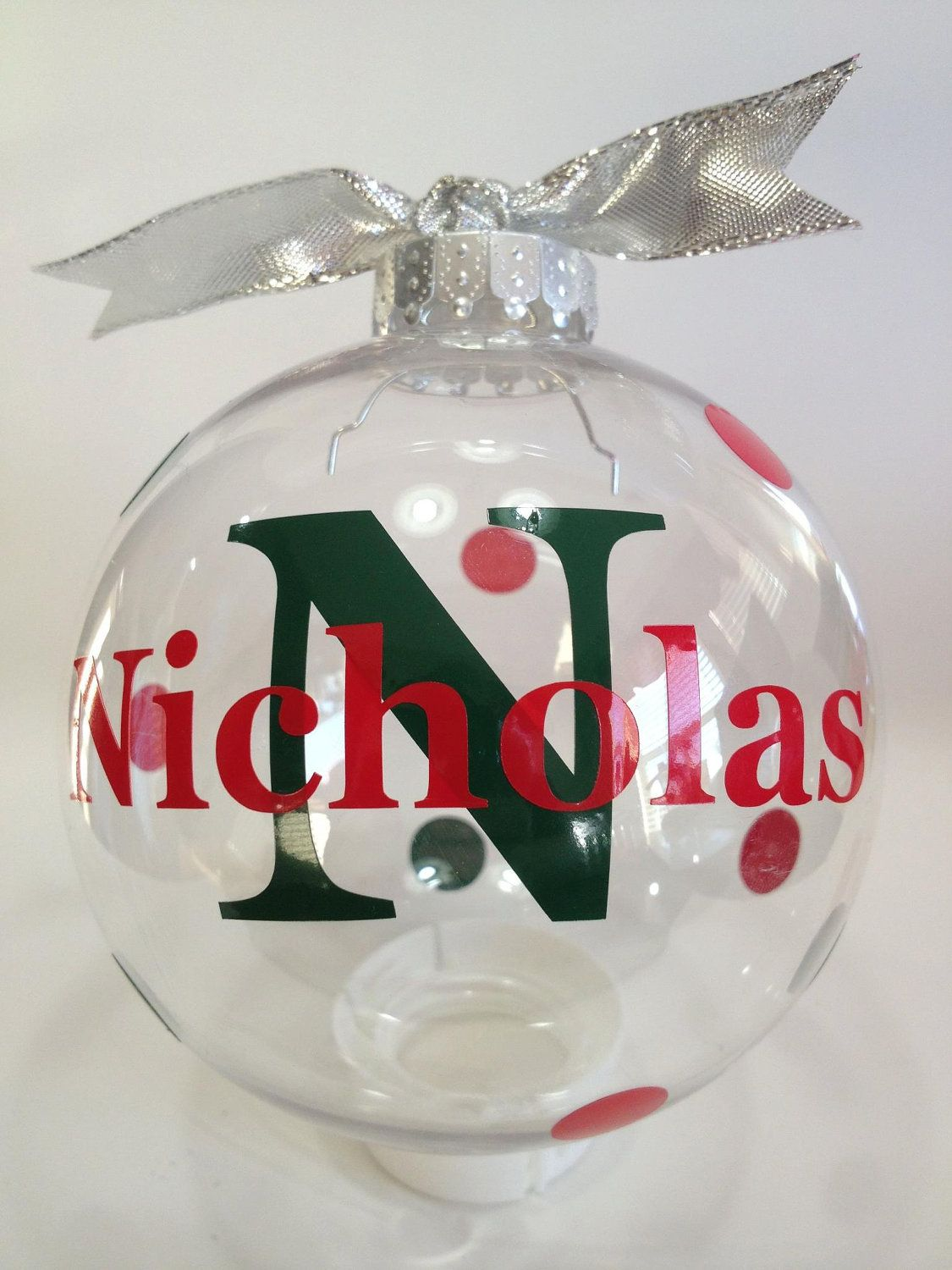 Custom Personalized Christmas Ornament 4 inch by