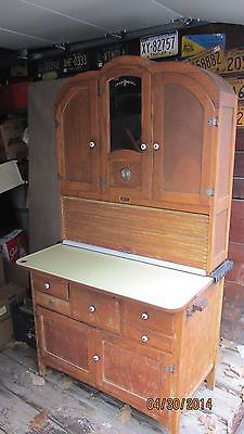 rare antique depression era oak hoosier kitchen cabinet clock roll top front   ebay  rare antique depression era oak hoosier kitchen cabinet  clock      rh   pinterest com