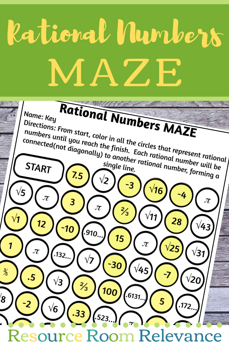 Identifying Rational Numbers Maze Activity Rational Numbers Word Problems Task Cards Integers Word Problems [ 1102 x 735 Pixel ]