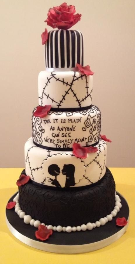 The nightmare before christmas wedding cake cake by the cake lady the nightmare before christmas wedding cake junglespirit Choice Image