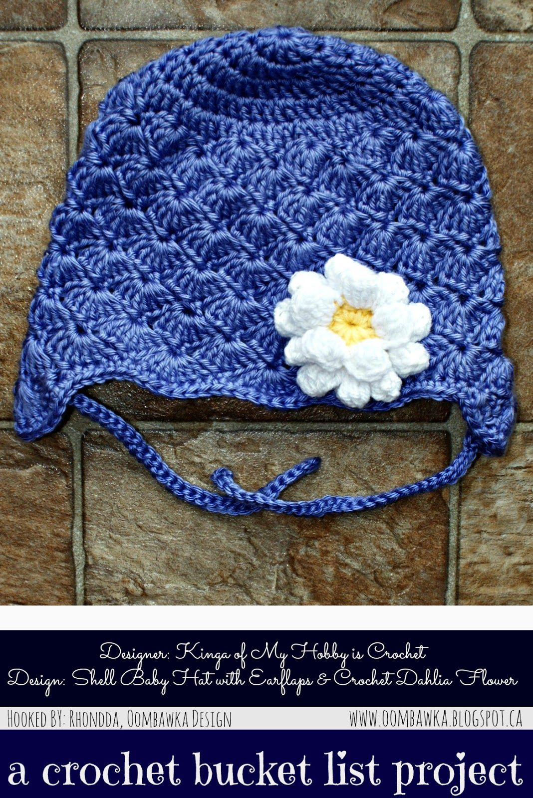 A crochet bucket list project shell baby hat with earflaps a crochet bucket list project shell baby hat with earflaps crochet dahlia flower bankloansurffo Images