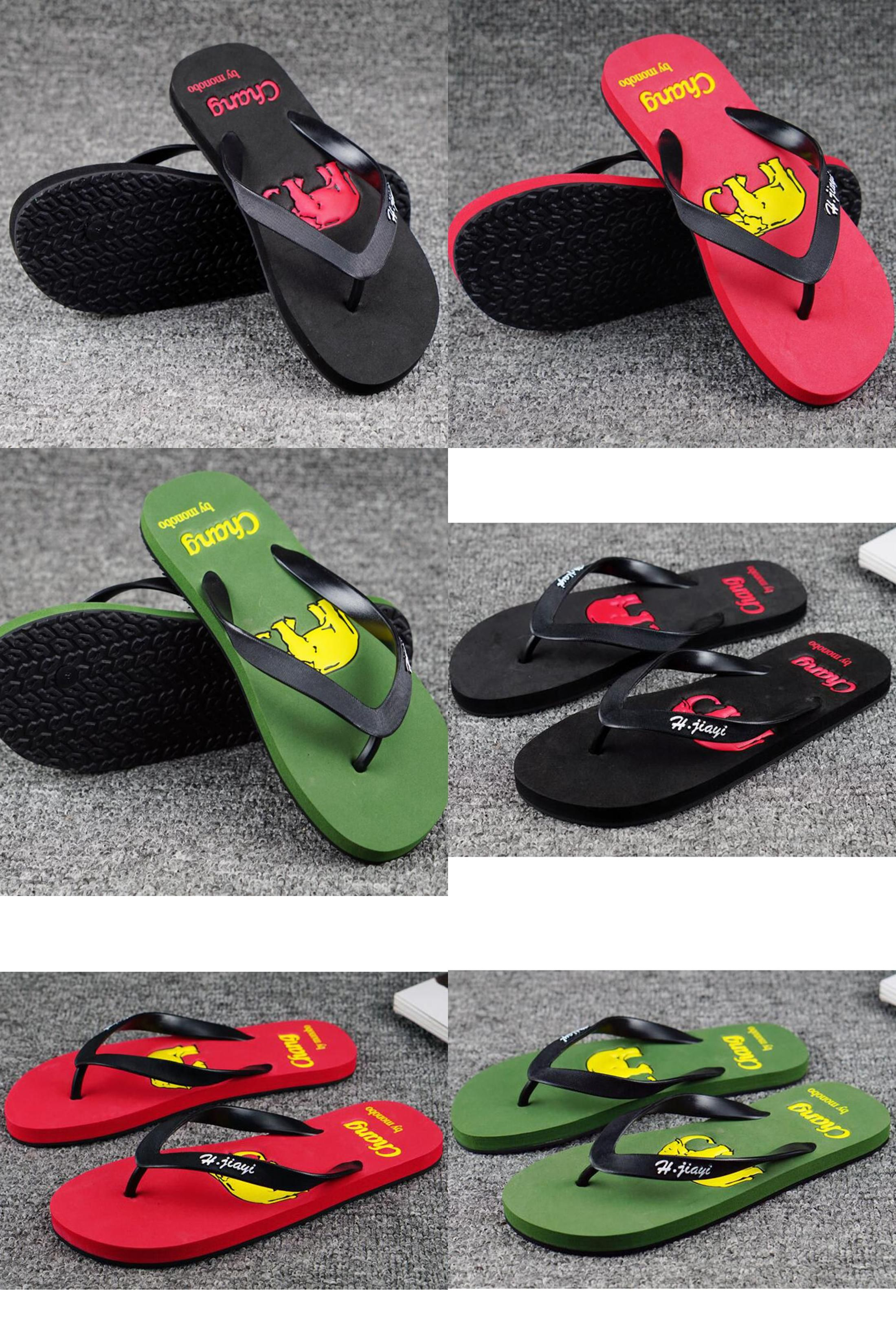 a6b833fcfcd3  Visit to Buy  2017 New flat sandals men candy color male summer beach  slippers
