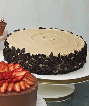 oreo crust chocolate cake and chocolate mousse filling and icing mmm......chocolate