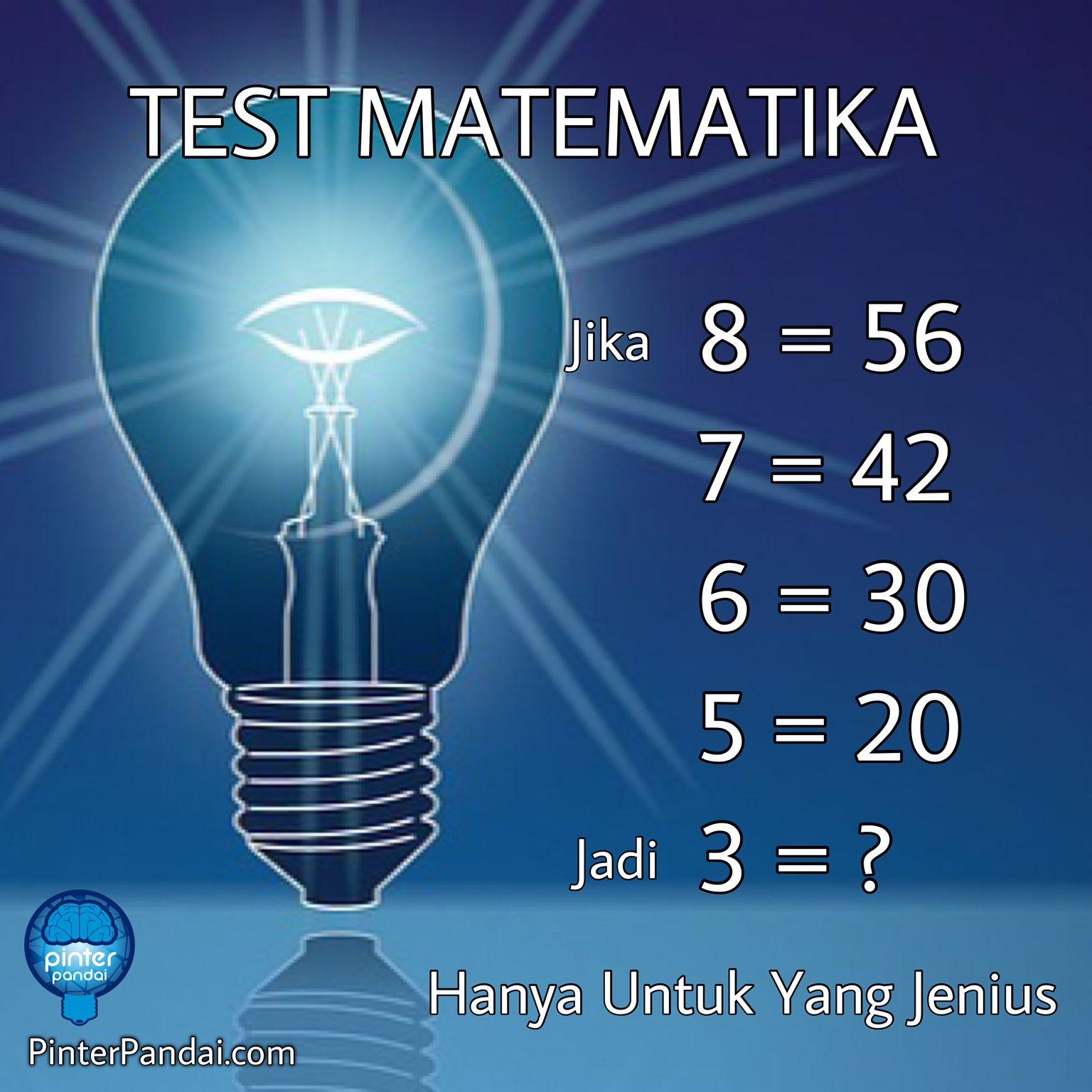 Tes Matematika Deret Angka 8 56 7 42 6 30 5 20 Jadi 3 Matematika Belajar