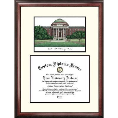 Campus Images NCAA Southern Methodist University Scholar Diploma Picture Frame