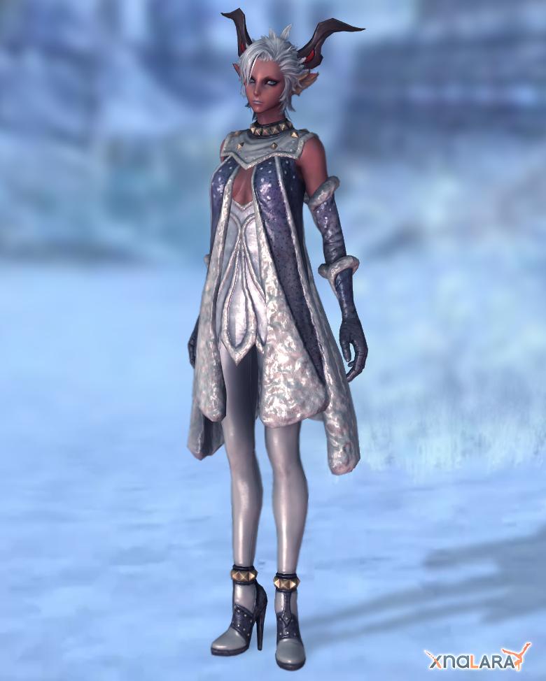 Castanic female cocktail dress