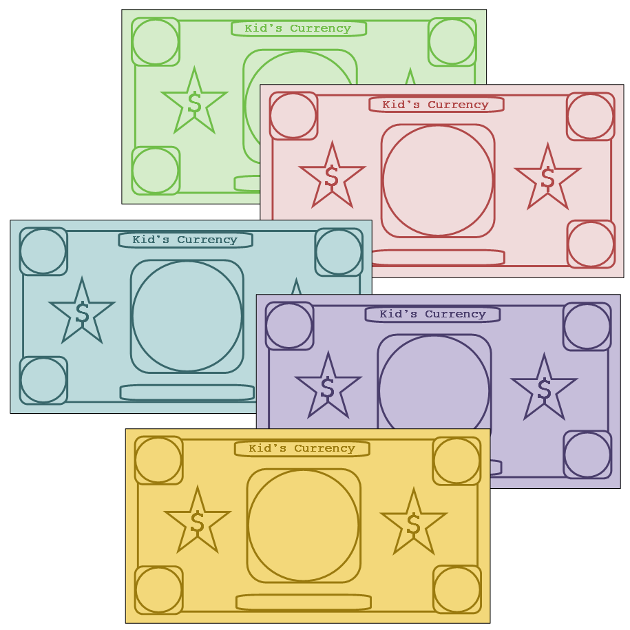 Play money to customize Printables Pinterest – Play Money Template