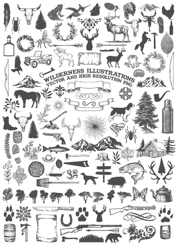 Camping Clipart Animal Clipart Nature Rustic Adventure Wilderness Hunting Clipart Clip Art Png Vector Eps Ai Design Elements Download In 2021 Camping Clipart Animal Clipart Clip Art