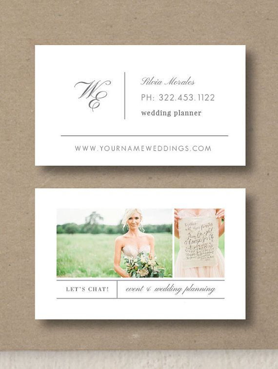 wedding planner business card template by designbybittersweet - Wedding Planner Business Cards