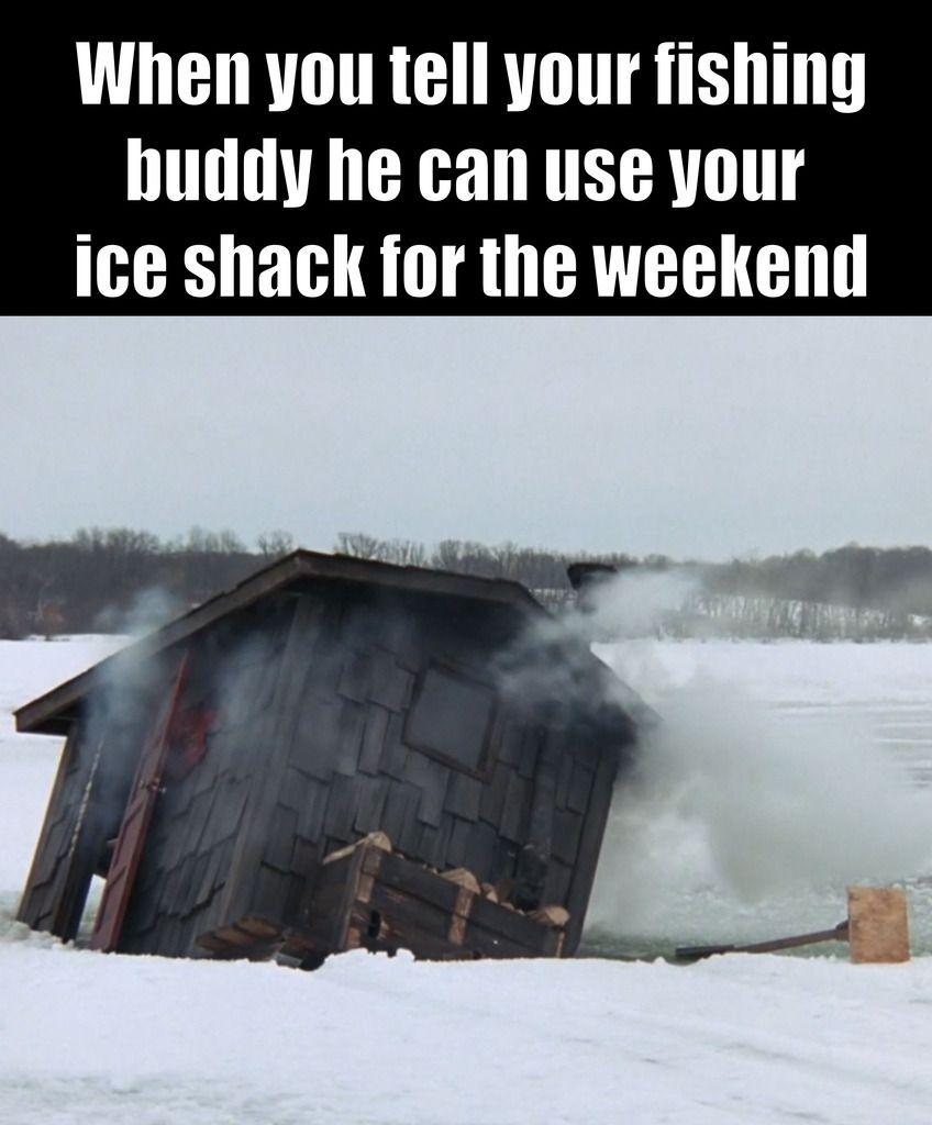 Ice fishing memes also fish rh pinterest