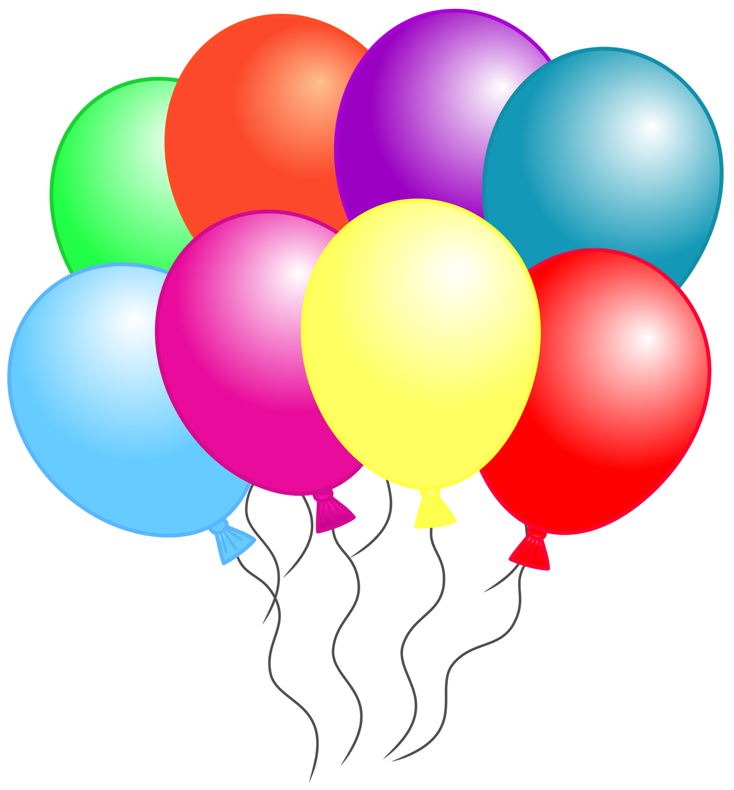 Balloon clipart that can be downloaded individually and