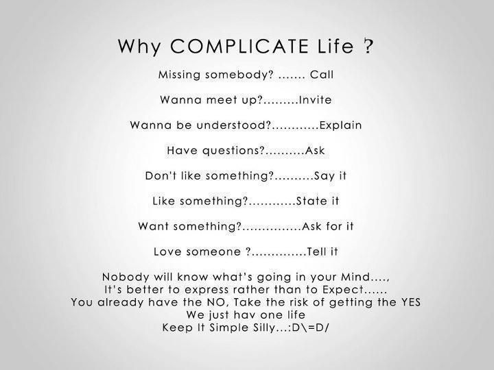 Beau Image Result For Why Complicate Life