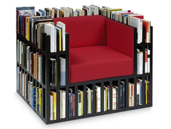 Best No Room For A Home Library How About A Chair Library Moveis Multifuncionais Idéias Para 400 x 300