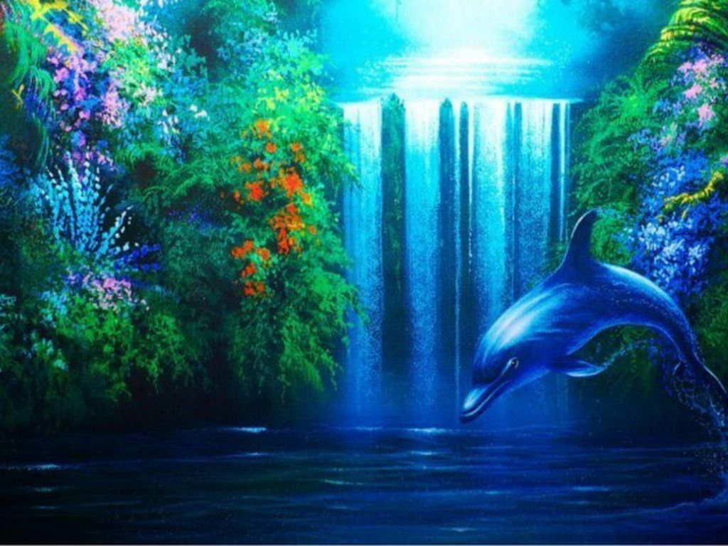 Dolphin Love Screensavers Download Dolphin The Free Waterfall