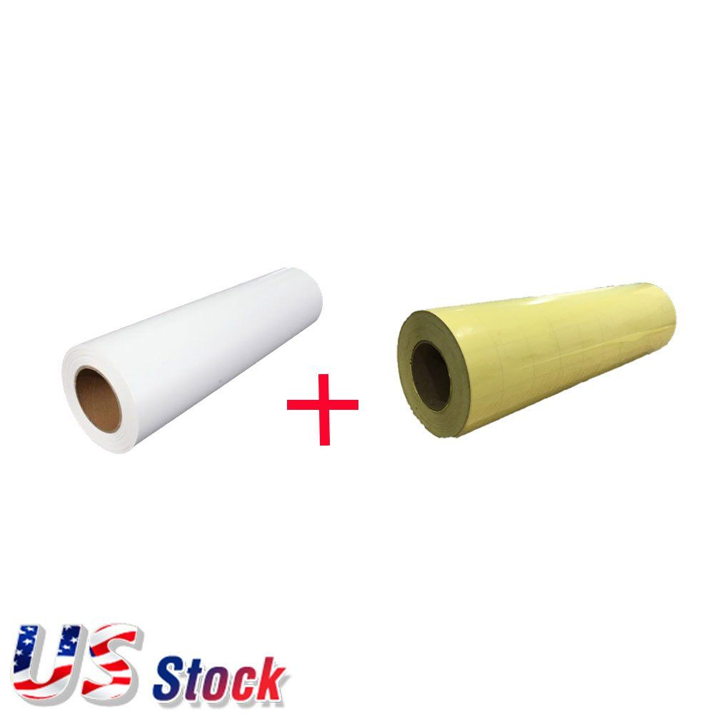 Us Stock 1 Roll White Color Ecosolvent Printable Heat Transfer Vinyl With 1 Roll Application Ta Printable Heat Transfer Vinyl Heat Transfer Vinyl Heat Transfer
