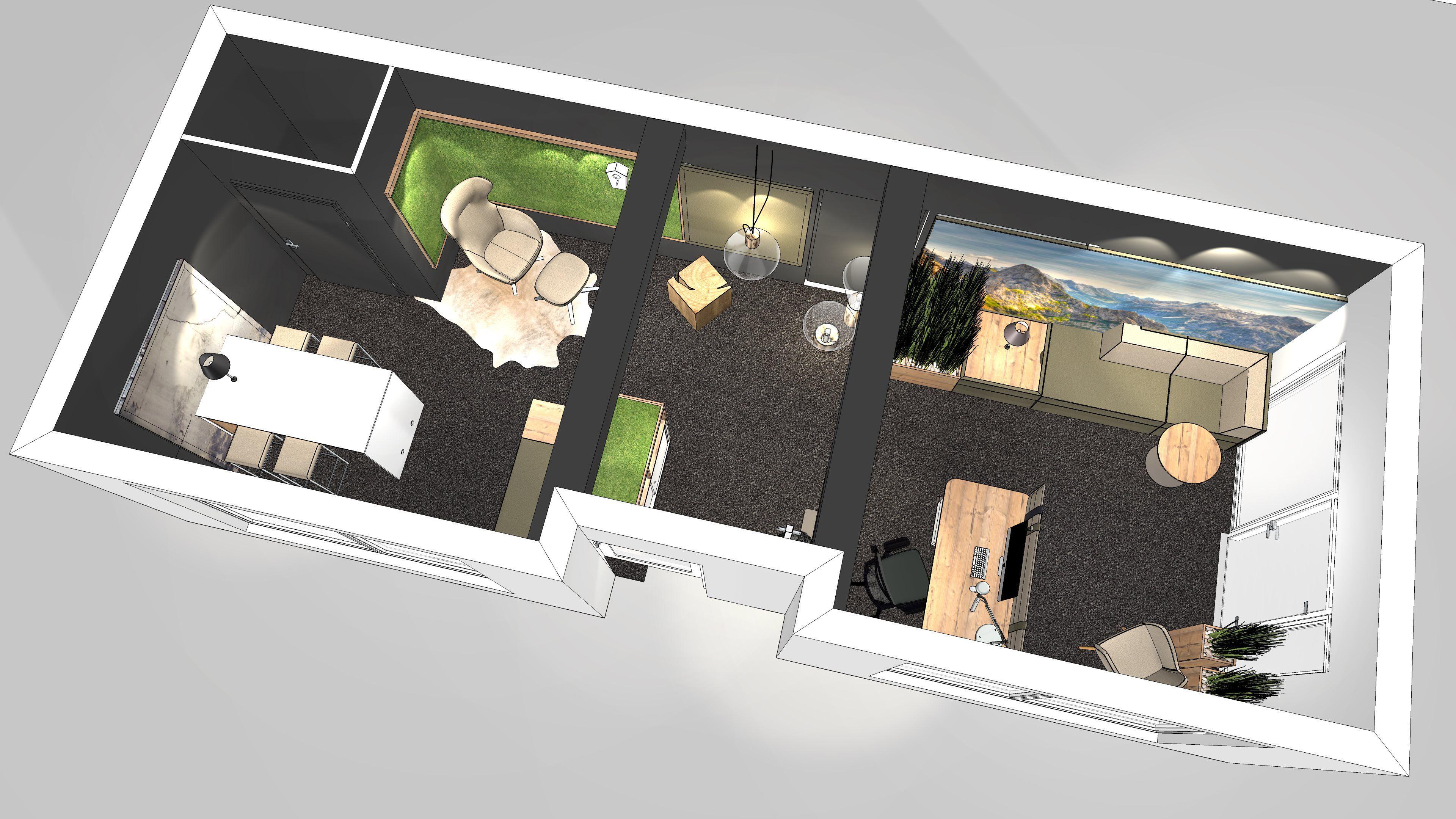 Büro Einrichten U2013 Moderne Büroraumplanung Beinhaltet Unterschiedliche  Zonierungen Mit Arbeits , Besprechungs  Und Loungebereich