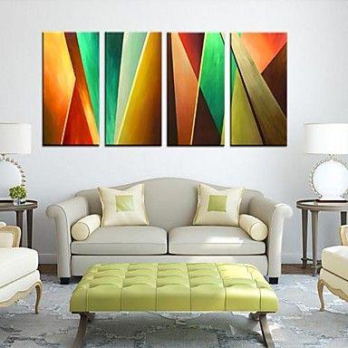 Op gespannen doek Abstract Color delige set van 4 – EUR € 81.81
