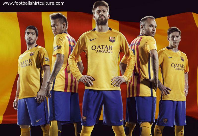 new style baca4 bfdb0 Barcelona 15/16 Nike Away Football Shirt | Soccer jerseys ...