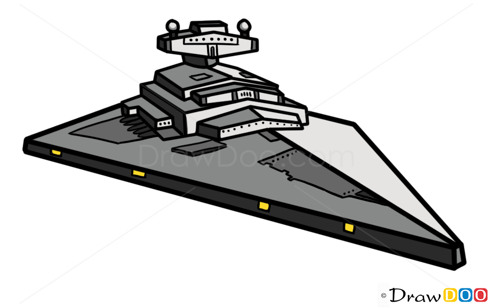 Star Wars Spaceship Drawings Easy How To Draw Imperial Star Destroyer Star Wars Spaceships Star Wars Cartoon Star Destroyer Art Star Wars Spaceships