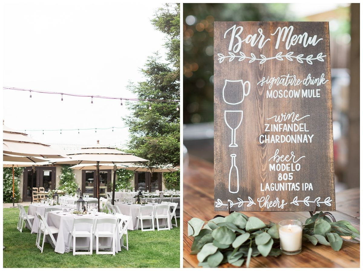 outdoor wedding venue filled with lots of